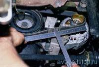 Проверка натяжения и замена ремня генератора ВАЗ 2108, 2109, 21099