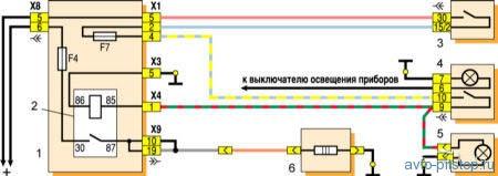 Система обогрева заднего стекла ВАЗ