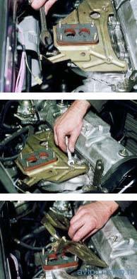 Снятие впускного и выпускного коллекторов на двигателе ВАЗ-21083