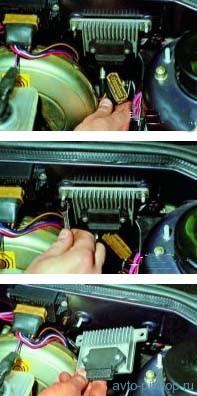 Снятие коммутатора системы зажигания ВАЗ 2108, 2109, 21099