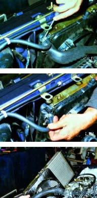 Снятие радиатора двигателя ВАЗ-21083, ВАЗ-2111