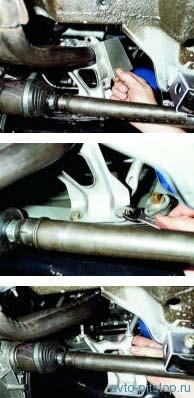 Снятие приемной трубы ВАЗ-2108-2115