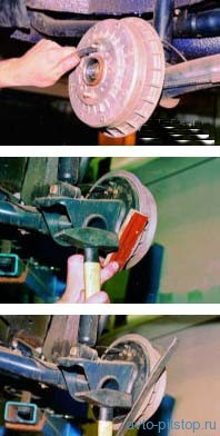 Замена задних тормозных колодок ВАЗ 2108, 2109, 21099