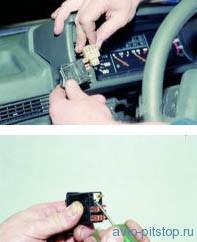Снятие комбинации приборов на автомобиле с панелью приборов 21083