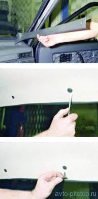 Снятие обивки крыши ВАЗ 2108-2115