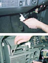 Снятие (высокой) панели приборов 21083