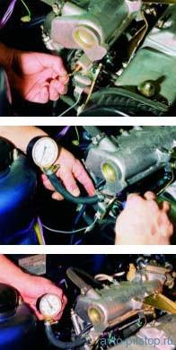 Проверка давления в топливной системе двигателя ВАЗ-2111