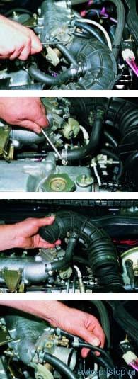 Снятие дроссельного узла двигателей ВАЗ-2111
