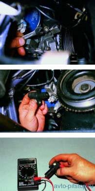 Снятие датчика положения коленчатого вала двигателя ВАЗ-2111