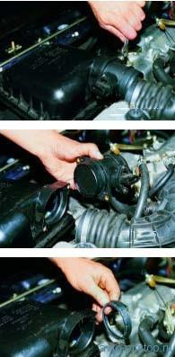 Снятие датчика массового расхода воздуха двигателя ВАЗ-2111