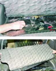 Снятие заднего сиденья  ВАЗ 2108-2115