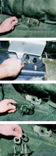 Снятие крана отопителя ВАЗ 2108–2115