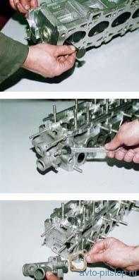 Снятие и разборка головки блока цилиндров автомобилей ВАЗ 2113, 2114, 2115