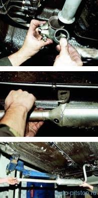 Снятие дополнительного глушителя ВАЗ-2108-2115