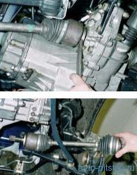 Снятие приводов передних колес семейства ВАЗ (ШРУС)