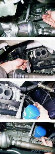 Снятие ресивера и коллекторов на двигателе ВАЗ-2111