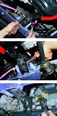 Снятие передней опоры двигателя ВАЗ 2113, 2114, 2115