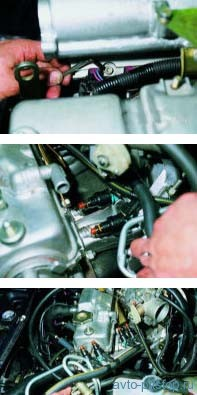 Снятие топливной рампы двигателей ВАЗ-2111