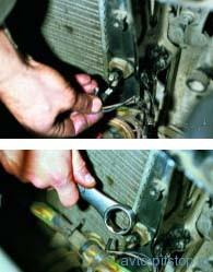 Снятие датчика включения электровентилятора на двигателях ВАЗ-21083, ВАЗ-2111