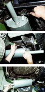 Ваз 21099 ремонт глушителя