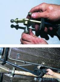 Снятие привода переключения передач ВАЗ-2108-2115
