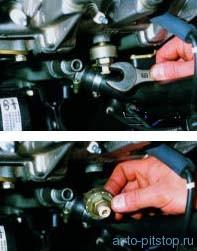 Снятие датчика детонации двигателя ВАЗ-2111