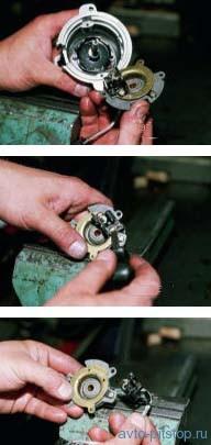 Снятие и разборка датчика-распределителя зажигания автомобилей ВАЗ 2108, 2109, 21099