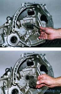 Снятие механизмов привода выключения сцепления ВАЗ-2108-2115