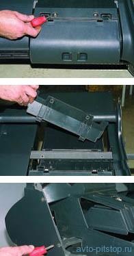Снятие (европанели) панели приборов 2113-2115