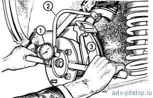 Проверка и регулировка углов установки передних колес Шевроле-Нива