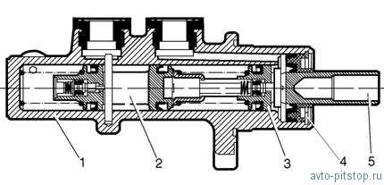 Главный цилиндр привода тормозов автомобиля Шевроле-Нива