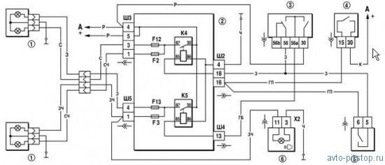 Электрооборудование.  Chevrolet Niva.  Освещение и световая сигнализация (особенности устройства) .