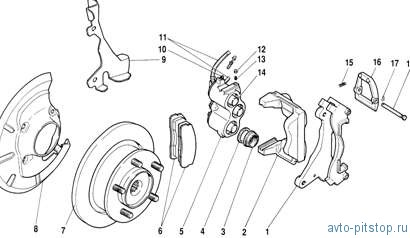 Передние тормоза автомобиля Шевроле-Нива