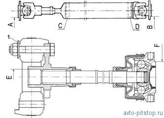Разборка карданной передачи Шевроле-Нива