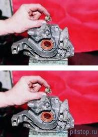 Снятие и разборка масляного насоса двигателя ВАЗ 2110, 2111, 2112