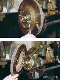 Снятие деталей тормозного механизма переднего колеса ВАЗ