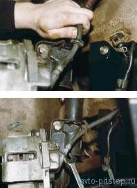 Снятие переднего тормозного шланга ВАЗ