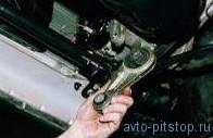 Снятие передней опоры двигателя ВАЗ-2112