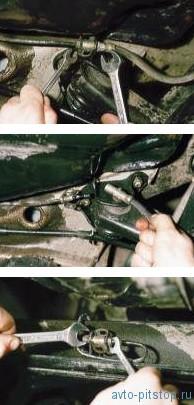 Снятие заднего тормозного шланга ВАЗ