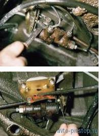 Проверка и регулировка привода регулятора давления задних тормозов ВАЗ