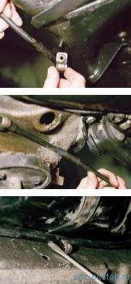 Снятие узлов и регулировка стояночной тормозной системы ВАЗ