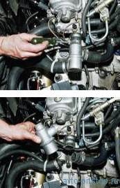 Снятие и проверка термостата двигателя ВАЗ-2111