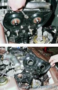 Снятие насоса охлаждающей жидкости двигателя ВАЗ-2112