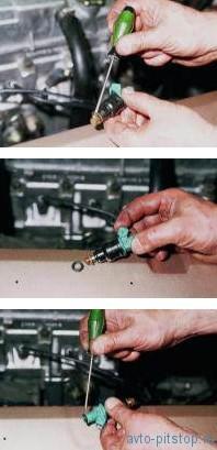 Снятие форсунок двигателей ВАЗ-2111, 2112