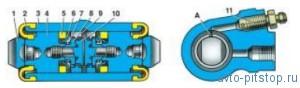 Тормозной механизм заднего колеса ВАЗ