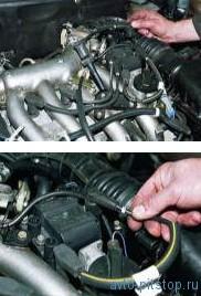 Снятие модуля зажигания двигателя ВАЗ-2112
