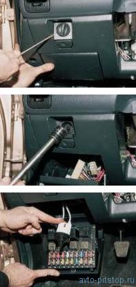 Снятие главного цилиндра гидрокорректора фар ВАЗ 2110-2112