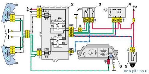 Схемы подключения блок-фар с однонитиевыми лампами ближнего света