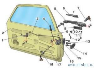 Разборка и сборка передней и задней дверей ВАЗ 2108-2115