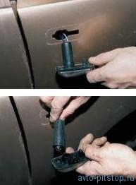 Снятие бокового указателя поворота и замена лампы ВАЗ 2110-2112